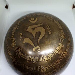 Ръчно гравирана тибетска пееща купа Ом Мани Падме Хум